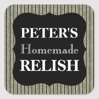 Customizable Striped Homemade Relish Labels