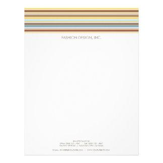 Customizable Stripes Pattern Retro Letterhead