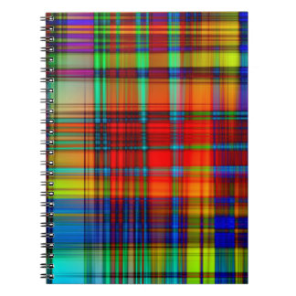 Customizable Stylish Colorful Abstract Designs Spiral Note Book