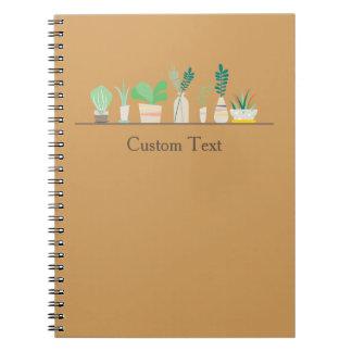 Customizable Succulent Notebook