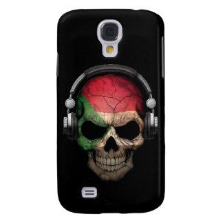 Customizable Sudanese Dj Skull with Headphones Galaxy S4 Case