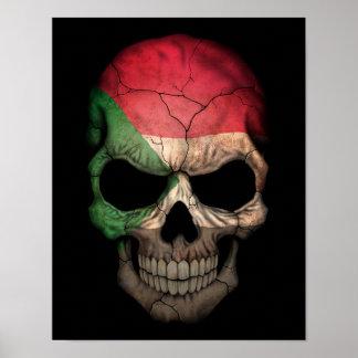 Customizable Sudanese Flag Skull Poster