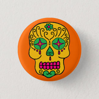 Customizable Sugar Skull Button