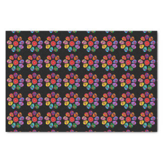 Customizable Sugar Skull Flowers Tissue Paper