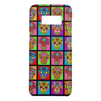 Customizable Sugar Skull Squares Case-Mate Samsung Galaxy S8 Case