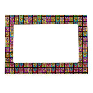 Customizable Sugar Skull Squares Magnetic Frame