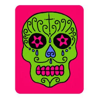 Customizable Sugar Skulls 4.25x5.5 Paper Invitation Card
