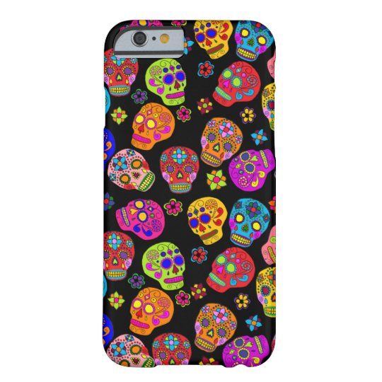 Customizable Sugar Skulls Barely There iPhone 6 Case