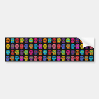 Customizable Sugar Skulls Bumper Sticker