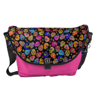 Customizable Sugar Skulls Courier Bags