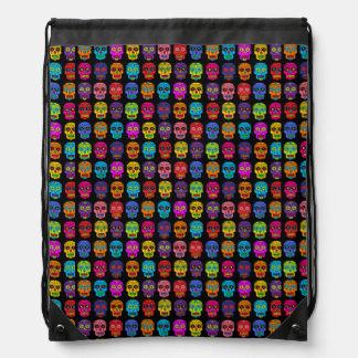 Customizable Sugar Skulls Drawstring Bag