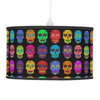 Customizable Sugar Skulls Hanging Lamp