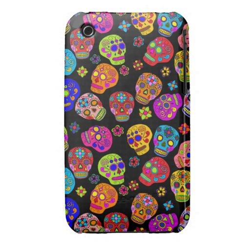 Customizable Sugar Skulls iPhone 3 Case