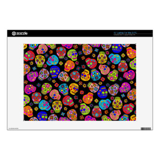 Customizable Sugar Skulls Laptop Decal