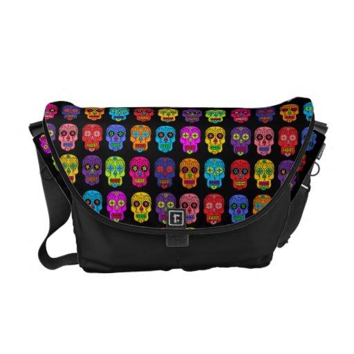 Customizable Sugar Skulls Messenger Bag