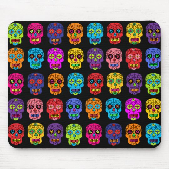 Customizable Sugar Skulls Mouse Pad