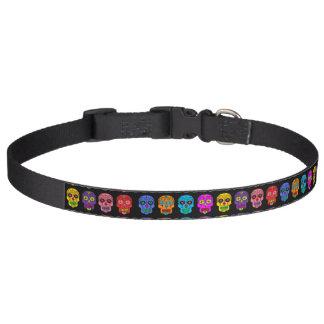 Customizable Sugar Skulls Pet Collar