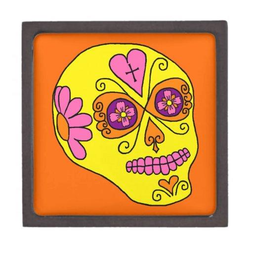 Customizable Sugar Skulls Premium Jewelry Boxes