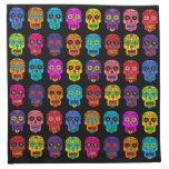 Customizable Sugar Skulls Printed Napkins