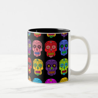 Customizable Sugar Skulls Two-Tone Coffee Mug