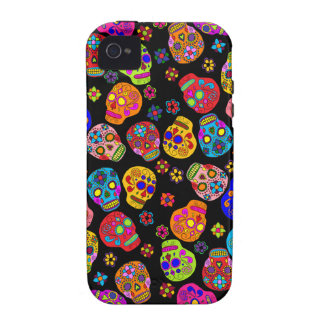 Customizable Sugar Skulls Vibe iPhone 4 Covers