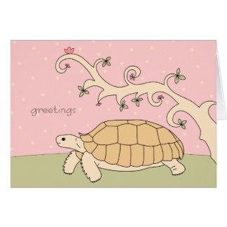 Customizable Sulcata Tortoise Card