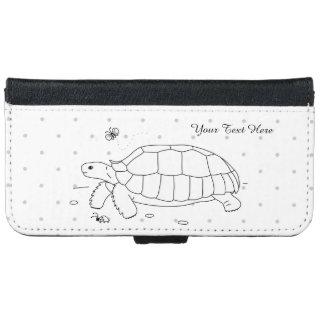 Customizable Sulcata Tortoise Phone Wallet Case