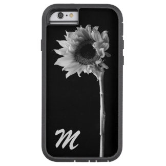 Customizable Sunflower Black and White Photograph Tough Xtreme iPhone 6 Case