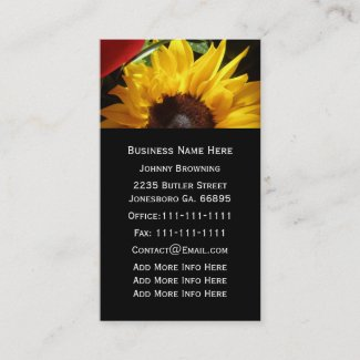 Customizable Sunflower Business Card