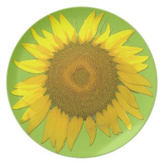 Customizable Sunflower Plate