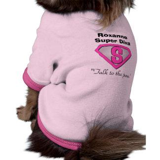 Customizable Super Diva Dog T-Shirt Pet Clothing