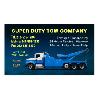 CUSTOMIZABLE Super Duty Towing BC Double-Sided Standard Business Cards (Pack Of 100)