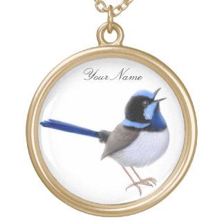 Customizable Superb Fairy Wren Necklace