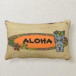 Customizable surfboard tiki decorative pillow