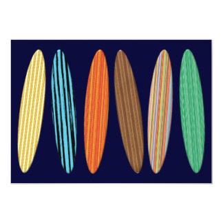 Customizable Surfboards 5x7 Paper Invitation Card