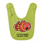 Hand shaped Customizable Surprised Baby Clown Fish Bib