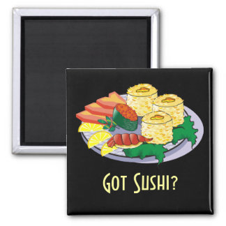 Customizable Sushi Magnet - Add text, background.