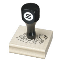 Customizable Swan Craft Stamp