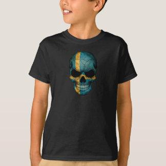 Customizable Swedish Flag Skull T-Shirt