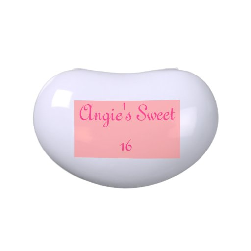 Customizable Sweet 16 Jelly Bean Candy Tins