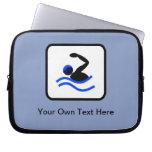 Customizable Swimmer Logo Computer Sleeve