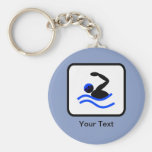 Customizable Swimmer Logo Keychains