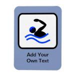 Customizable Swimmer Logo Rectangular Photo Magnet