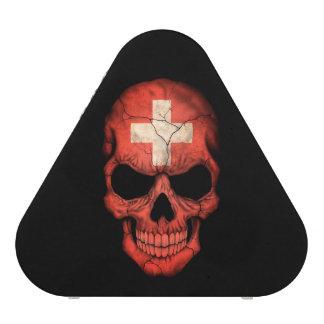 Customizable Swiss Flag Skull Speaker