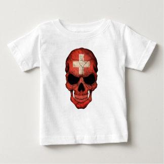 Customizable Swiss Flag Skull Infant T-shirt