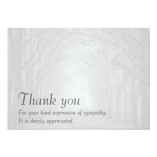 Customizable sympathy thank you card and envelope
