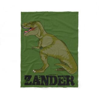 Customizable T-Rex Fleece Blanket