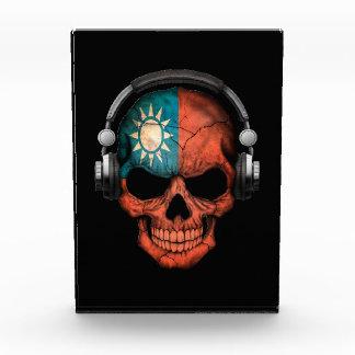 Customizable Taiwanese Dj Skull with Headphones Awards