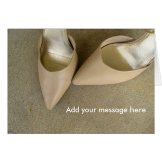 Customizable Tan Shoes Greeting Cards