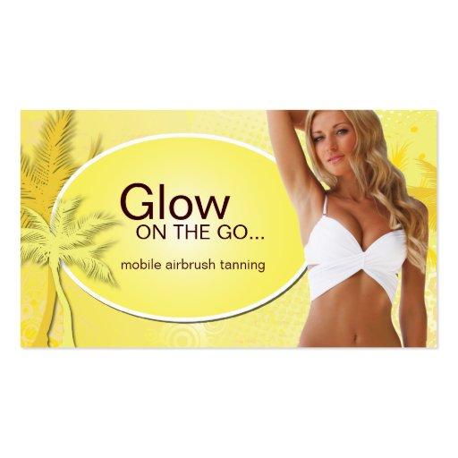 Customizable Tanning Salon Business Card